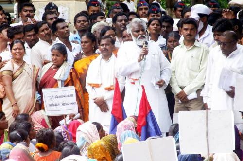Pic 07 : Adv. Ekanath Awad, a fierce guide and compassionate support for Dalit families in the caste infested Beed District