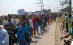 All women came to the 'Long March'
