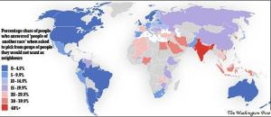 Pic 01 Map Shows the least and most tolerate countries in the world.