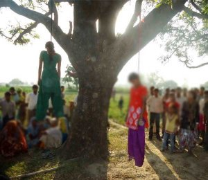 Pic01: Sisters hanging on tree , worst crime humanity saw.