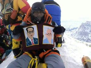 Pic: Ambedkarites on Mount Everest