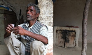 Pic 01: Sohan Lal, father of one of the raped girls, at  home in Uttar Pradesh.
